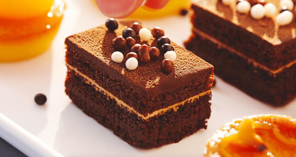 Duplán csokoládés szelet